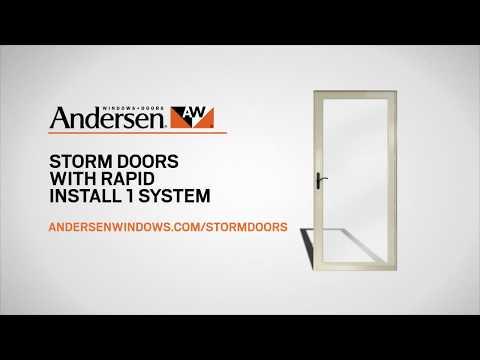 Storm Door Installation in About 1 Hour: Andersen Rapid Install 1 System Installation Overview