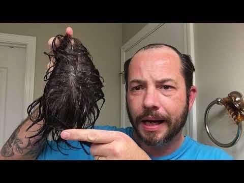 Hair replacement Men's Hair System Review Ah Crap, got Glue in My Hair!!