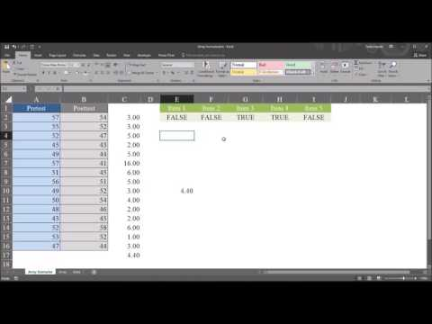 Array Formulas for Complex Calculations in Microsoft Excel