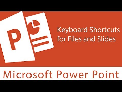 Powerpoint : Keyboard Shortcuts for Files and Slides