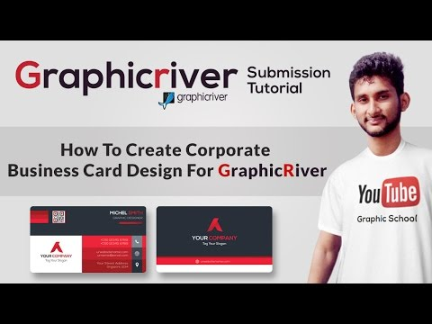 How To Create Corporate Business Card Design For Graphicriver | Graphicriver Submission Tutorial #01