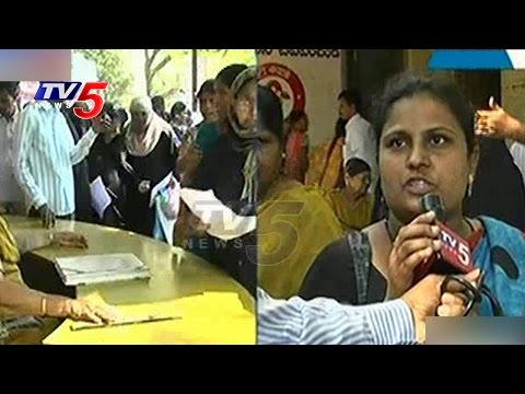People Angry Over Double Bedroom Application Forms | Hyderabad Collectorate | TV5 News
