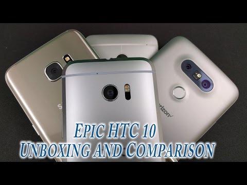 #verizon HTC 10 unboxing and 2016 Flagship comparison (S7 Edge,M7,LGG5)