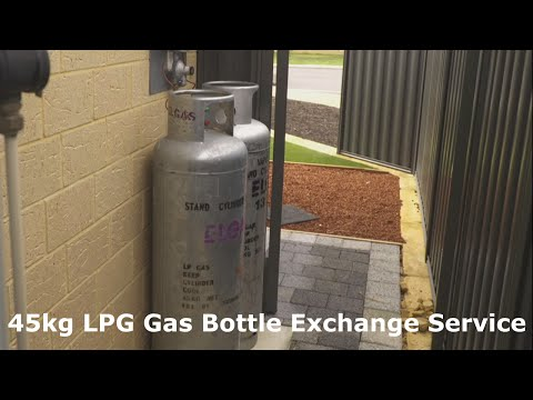 Elgas - 45kg LPG Gas Bottle Exchange Service in Action!