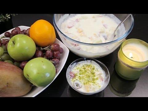 Fruit Salad with Yogurt Sauce