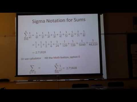 Sequence and Series Summation Notation with calculator