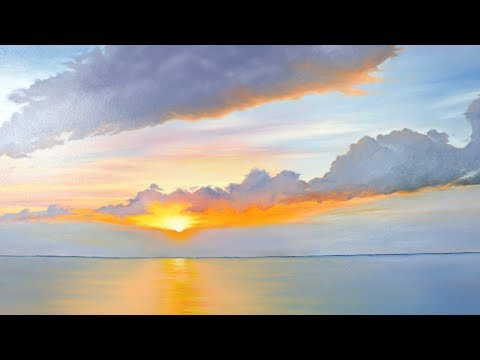How to Create a Sunset Painting with H2O Water Mixable Oils
