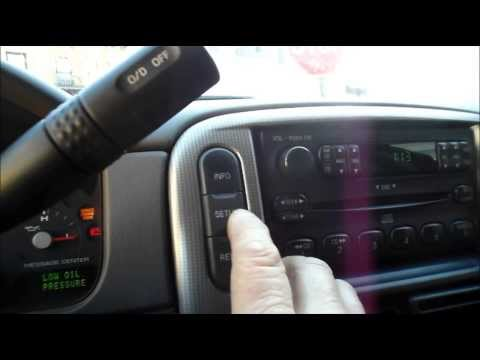 How to turn off the oil change required light Ford Explorer