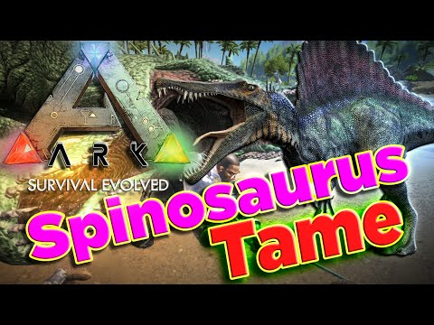 ARK Survival Evolved Taming Spinosaurus How To Tame Dinosaur Spinosaurus Spinosaurus Saddle
