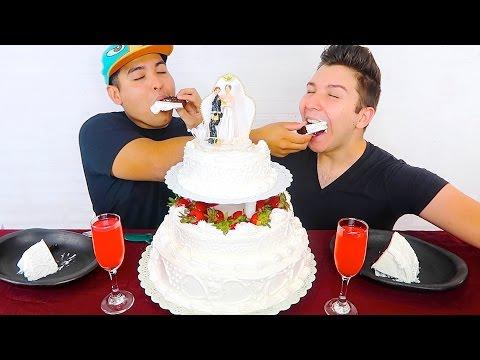 We Got Married • Our Wedding Cake • MUKBANG