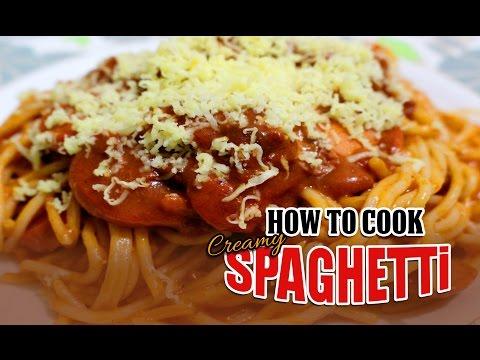 HOW TO COOK SPAGHETTI (Creamy Filipino Style)