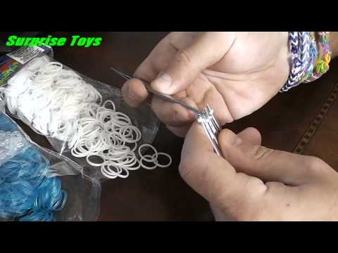 How to make a Hexafish, Rainbow Loom, Bracelet on a FORK