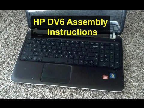 HP Pavilion DV6 assembly instructions, processor replacement, etc. - VOTD