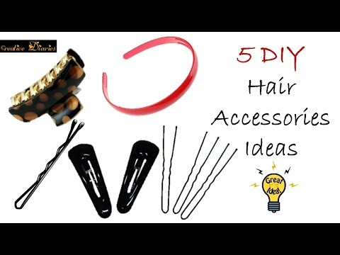 5 Very Easy and Super Cute Hair Accessories DIY Ideas I Creative Diaries