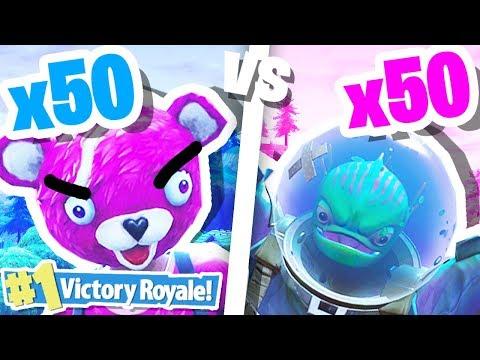 INSANE FORTNITE BATTLE ROYALE 50 vs 50!!!