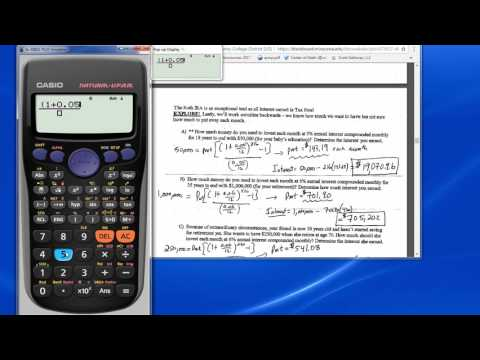 Annuity Formula - Solve for pmt and total interest