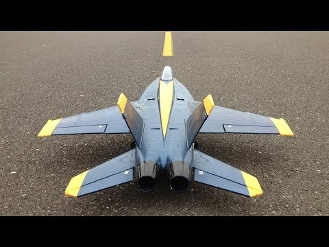 Jet Crash - RC F-18 Super Hornet 64mm EDF Jet Plus Bonus RC Jet Crash Full Speed Into a Bush