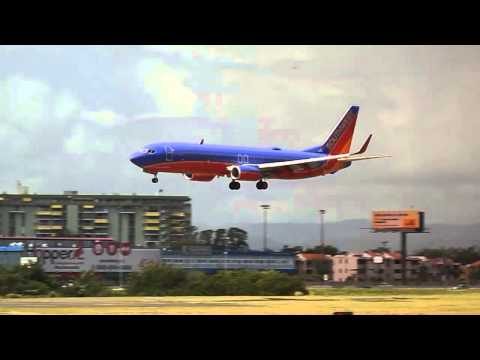 SOUTHWEST AIRLINES FIRST FLIGHT TO PUERTO RICO LANDING ON RUNWAY 10