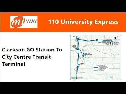 MiWay 2017 New Flyer XD40 #1717 On 110 University Express (Clarkson GO To City Centre Terminal)