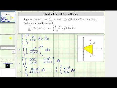 Evaluate Double Integral of y/(1+x) over Region Bounded by y=-x and y=sqrt(x)
