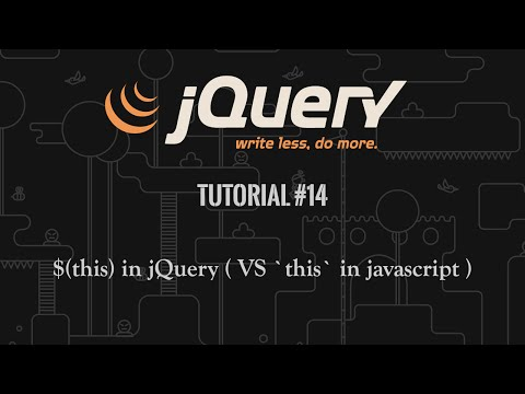 jQuery Tutorial 14: $(this) selector