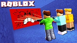 Roblox Adventures - SHOOT TO DESTROY THE CRUSHER WALL! (Destroy The Wall)