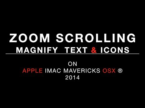 How to magnify text & icons - Mac