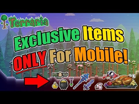 TERRARIA - THESE ITEMS ARE ONLY FOR MOBILE VERSION!!!