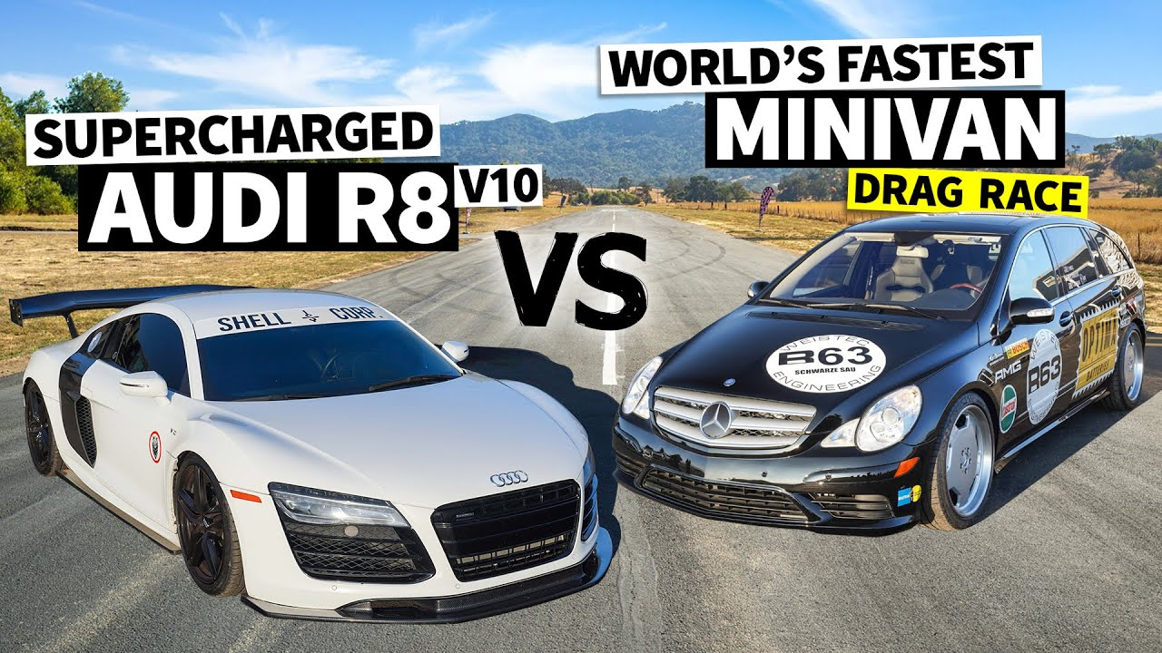 Can a 700hp Supercharged Minivan Beat a V10 Audi R8? // This vs. That