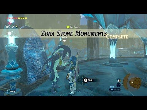 Zelda: BOTW (Zora Stone Monuments) Side Quest