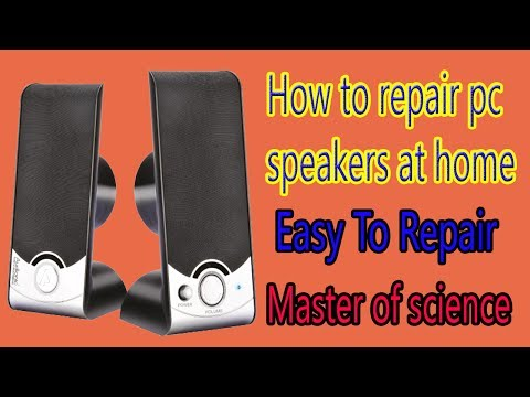 How to Repair PC speakers at home