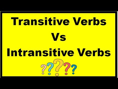 Difference between Transitive and Intransitive Verbs | in Hindi | English Grammar |