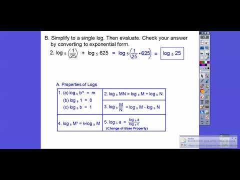 Properties of Logarithms - Module 16.1 (Part 1)
