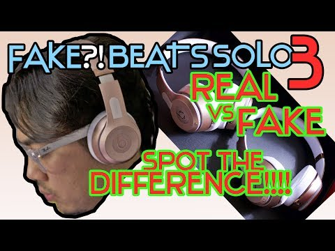 Real vs Fake Beats Solo 3 | Beats by Dre | Rose Gold