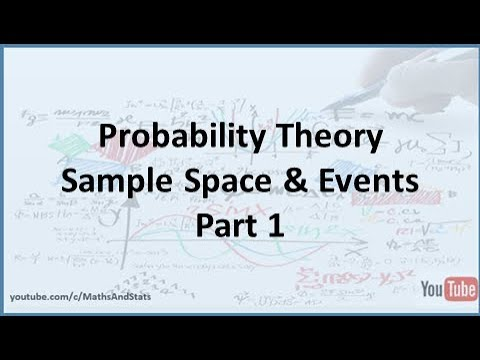 Probability Theory: Sample Space and Events - Part 1