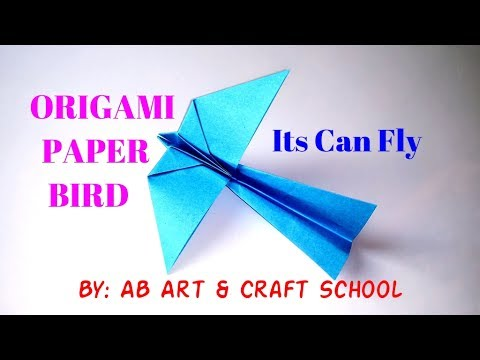 How to Make a Paper Bird, Its can Fly/ Origami Paper Bird