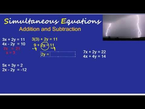 Simultaneous Equations: Addition and Subtraction