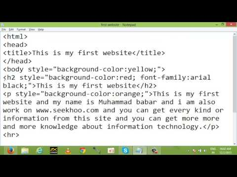 Background, Font color, and Style html Tags Class 4 in Urdu and Hindi