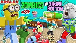 ROBLOX SPONGEBOB SQUAREPANTS Land of Terror! ZOMBIESKINI BOTTOM!  FGTEEV #39 Nickelodeon Slime Fun!