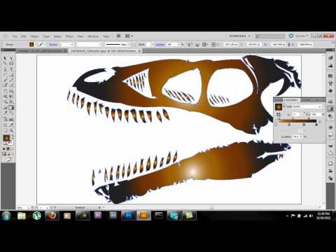 Adobe Illustrator CS5 Tutorial: how to use live trace & gradient tools