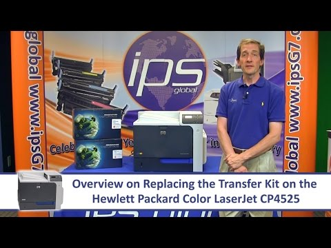 HP CP4525 - Replacing the Transfer Kit