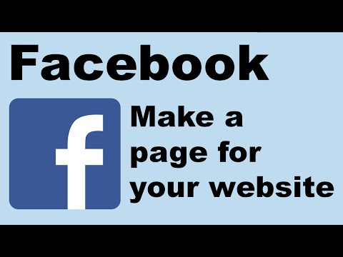 How to make a Facebook page for your website
