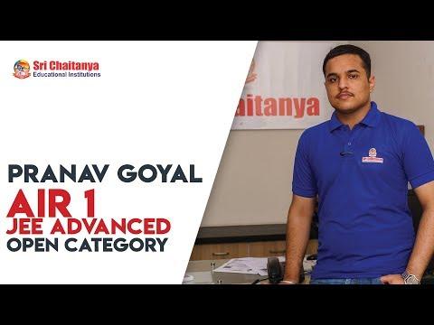 Sri Chaitanya's Pranav Goyal Secures All India 1st Rank | JEE Advanced Results 2018