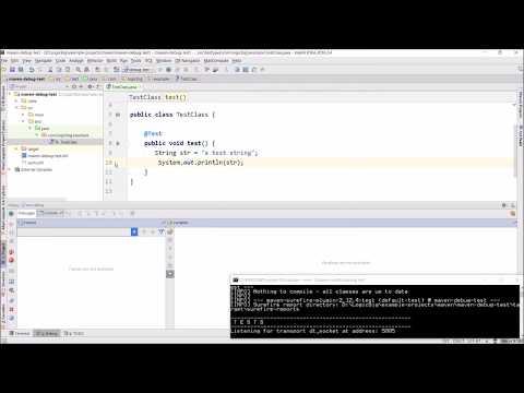 Maven - How to  Debug JUnit tests?
