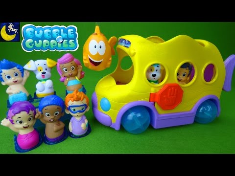 Bubble Guppies Toys Swimsational School Bus & Check Up Center Gil Molly Goby Oona Bubble Puppy Toys