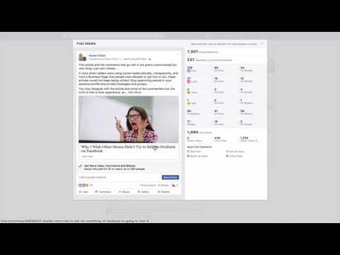 Facebook Marketing: Understand Your Facebook Post Stats/Insights/Analytics (2017)