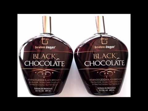 Lot of 2 Black Chocolate 200x Black Bronzer Tanning Lotion Brown Sugar Tan Inc