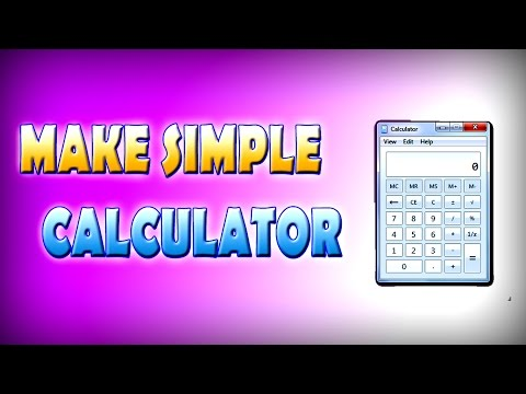 How to make a calculator in Notepad