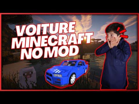 Tuto comment faire une voiture qui roule dans minecraft sans mod ! Sur PC en 1.8