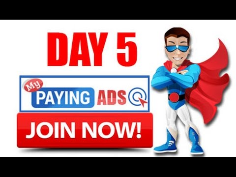 MyPayingAds - How to make free money online (Day 5)